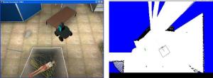 P2AT robot exploring environment