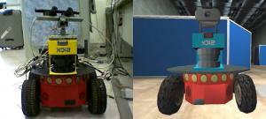 Real-virtual P2AT Robot