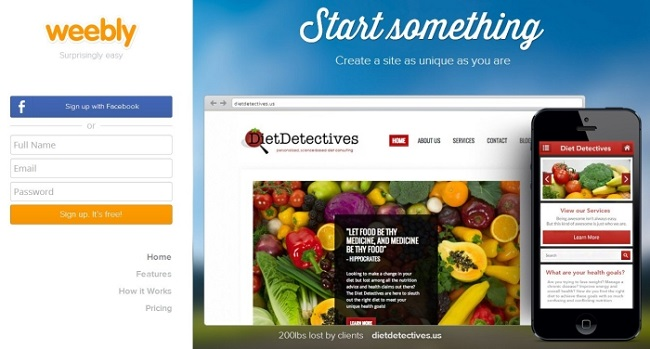 Wordpress substitutes: weebly