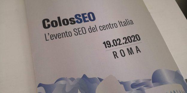 ColosSEO evento SEO Roma 2020